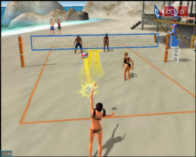 In-game screen of the game Summer Heat Beach Volleyball on Sony Playstation 2