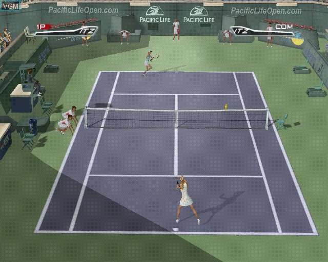 In-game screen of the game Top Spin on Sony Playstation 2