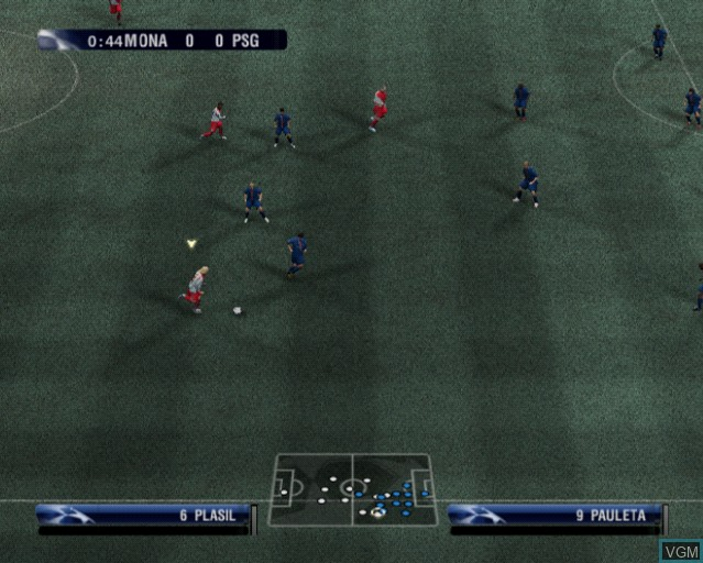 In-game screen of the game UEFA Champions League 2006-2007 on Sony Playstation 2