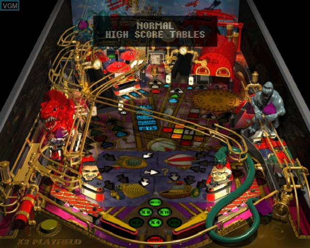 In-game screen of the game Ultimate Pro Pinball on Sony Playstation 2
