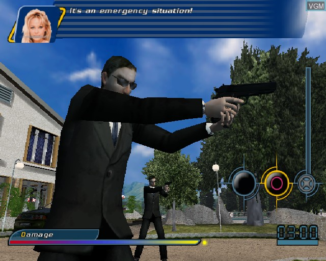 In-game screen of the game V.I.P. on Sony Playstation 2