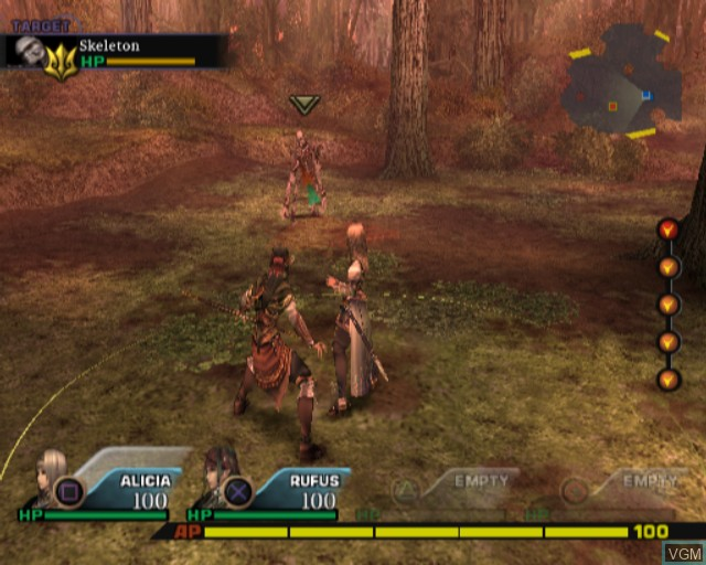 In-game screen of the game Valkyrie Profile 2 - Silmeria on Sony Playstation 2