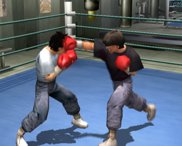 In-game screen of the game Victorious Boxers - Ippo's Road to Glory on Sony Playstation 2