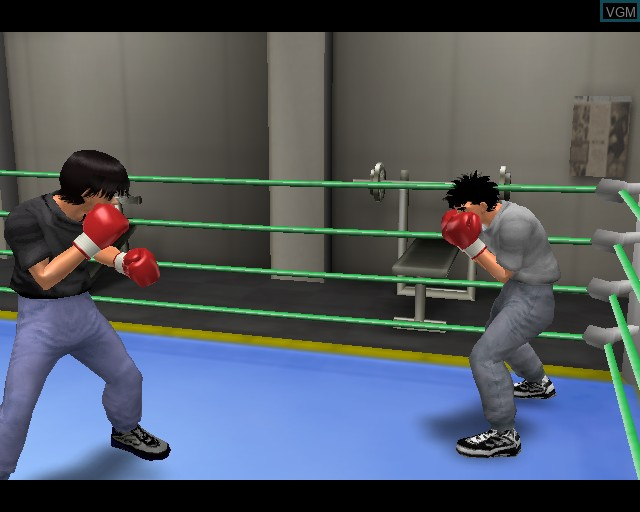 In-game screen of the game Victorious Boxers 2 - Fighting Spirit on Sony Playstation 2