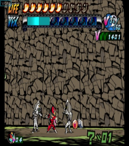 In-game screen of the game Viewtiful Joe 2 on Sony Playstation 2