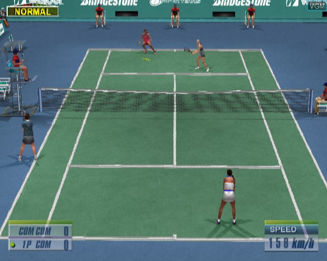 In-game screen of the game Virtua Tennis 2 on Sony Playstation 2