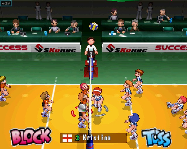In-game screen of the game Volleyball Xciting on Sony Playstation 2