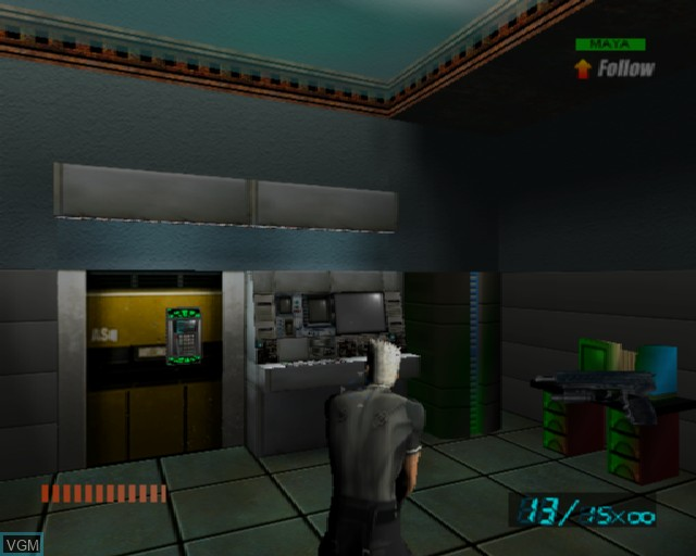 In-game screen of the game X-Squad on Sony Playstation 2