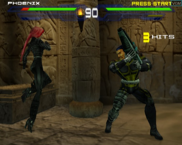 In-game screen of the game X-Men - Next Dimension on Sony Playstation 2