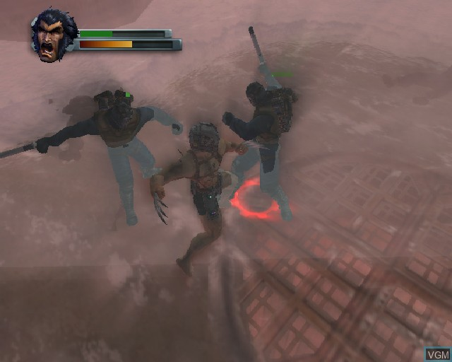 In-game screen of the game X-Men 2 - Wolverine's Revenge on Sony Playstation 2