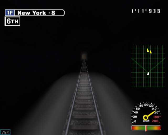 In-game screen of the game X-treme Express on Sony Playstation 2