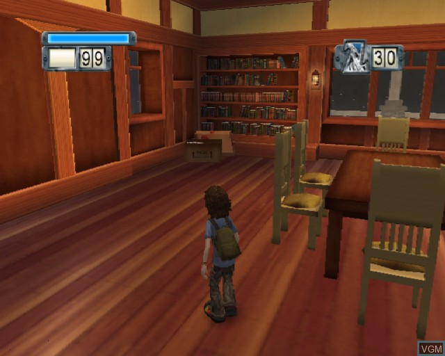 In-game screen of the game Zathura on Sony Playstation 2