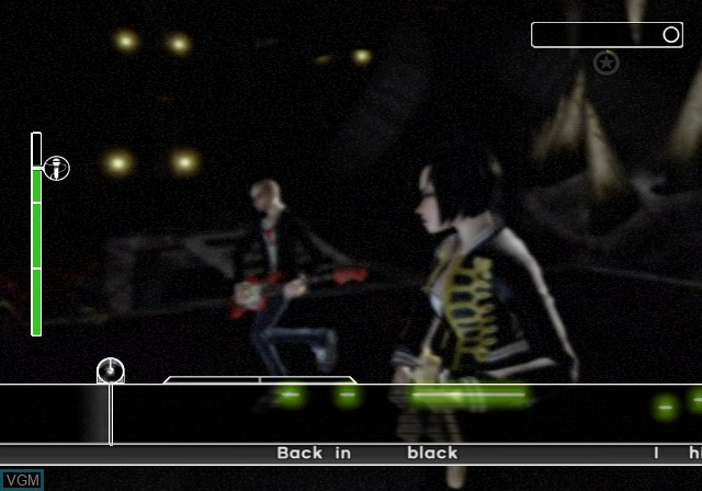In-game screen of the game AC/DC LIVE - Rock Band Track Pack on Sony Playstation 2