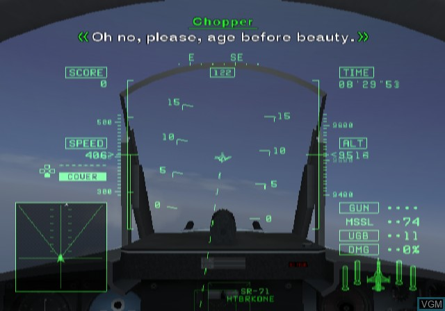 In-game screen of the game Ace Combat 5 - The Unsung War on Sony Playstation 2