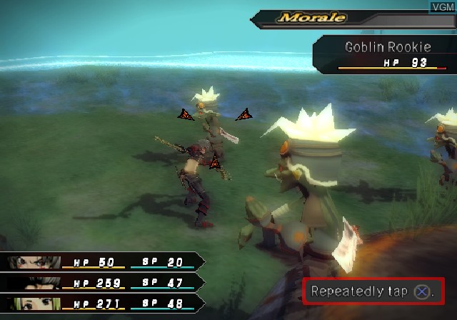 In-game screen of the game .hack//G.U. Vol. 1//Rebirth on Sony Playstation 2