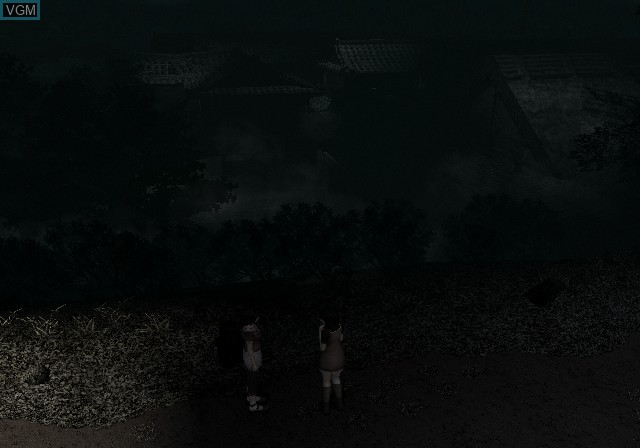 In-game screen of the game Fatal Frame II - Crimson Butterfly on Sony Playstation 2