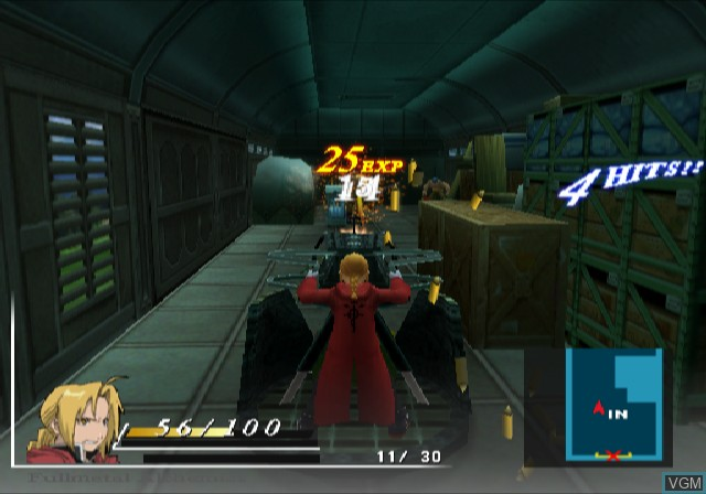 In-game screen of the game Fullmetal Alchemist and the Broken Angel on Sony Playstation 2