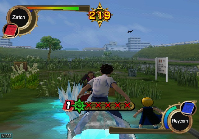 In-game screen of the game Zatch Bell! Mamodo Fury on Sony Playstation 2