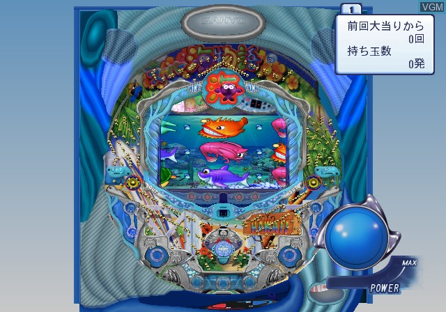 In-game screen of the game PachiPara 13 - Super Umi to Pachi-Pro Fuuunroku on Sony Playstation 2