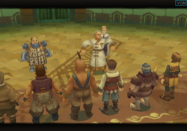 In-game screen of the game Radiata Stories on Sony Playstation 2