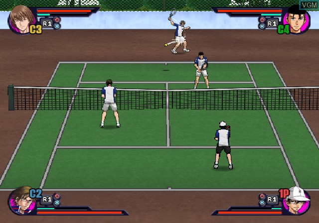 In-game screen of the game Tennis no Oji-Sama - Smash Hit! on Sony Playstation 2
