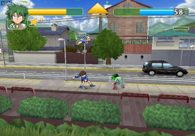 In-game screen of the game Ueki no Housoku - Taosu ze Robert Juudan!! on Sony Playstation 2