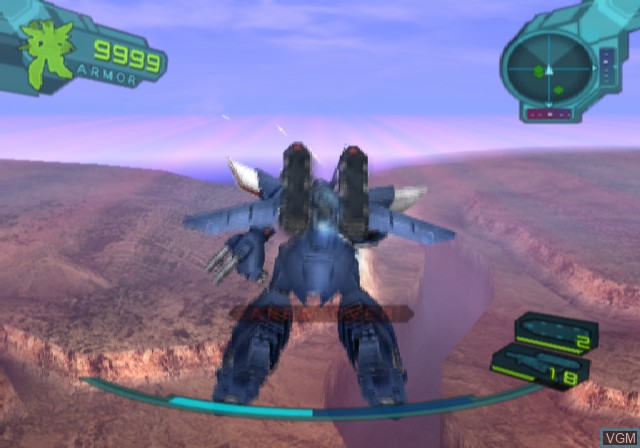 In-game screen of the game A.C.E. - Another Century's Episode on Sony Playstation 2