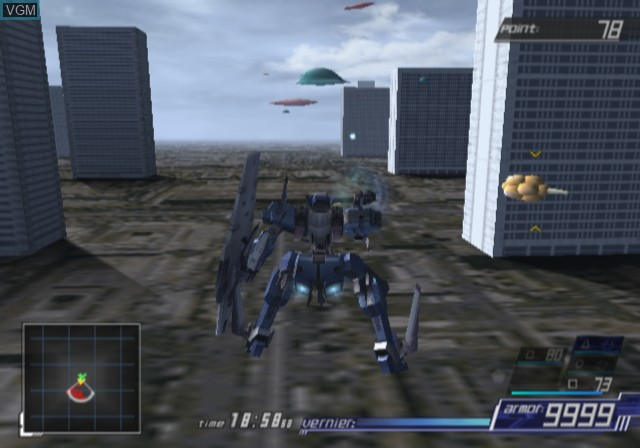 In-game screen of the game A.C.E. - Another Century's Episode 3 - The Final on Sony Playstation 2