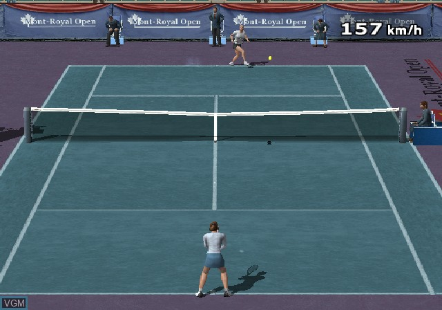In-game screen of the game Climax Tennis - WTA Tour Edition on Sony Playstation 2
