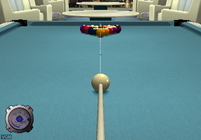 In-game screen of the game Doukyu Billiard Master 2 on Sony Playstation 2