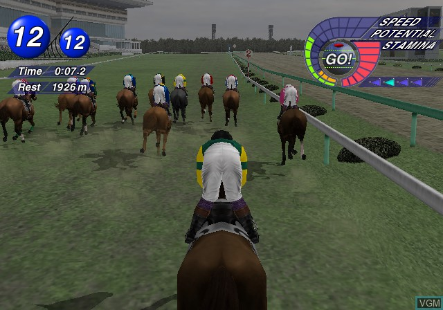 In-game screen of the game G1 Jockey 2 on Sony Playstation 2