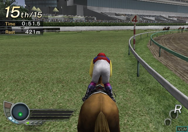 In-game screen of the game G1 Jockey 3 2005 Nendoban on Sony Playstation 2