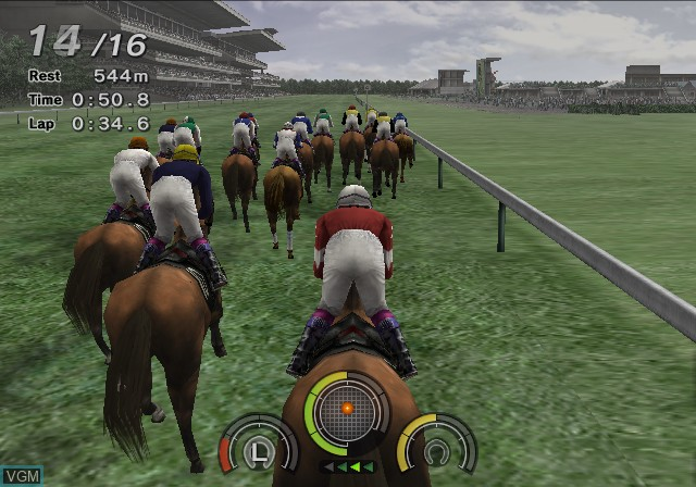 In-game screen of the game G1 Jockey 4 2006 on Sony Playstation 2