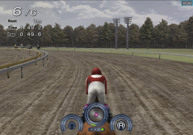 In-game screen of the game G1 Jockey 4 2008 on Sony Playstation 2