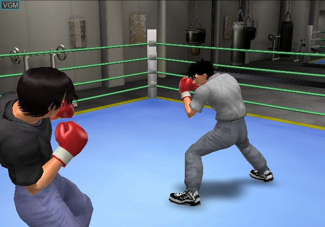 In-game screen of the game Hajime no Ippo All Stars on Sony Playstation 2
