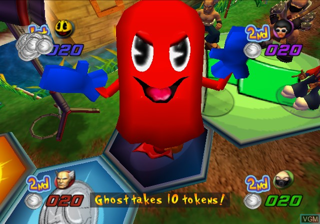 In-game screen of the game Pac-Man Fever on Sony Playstation 2