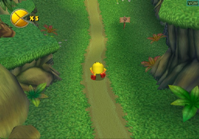 In-game screen of the game Pac-Man World 2 on Sony Playstation 2