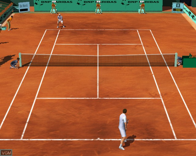 In-game screen of the game Roland Garros French Open 2002 on Sony Playstation 2