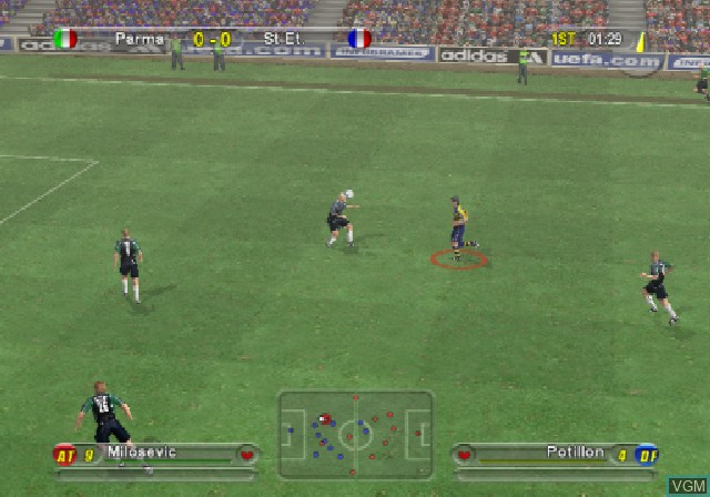 In-game screen of the game UEFA Challenge on Sony Playstation 2