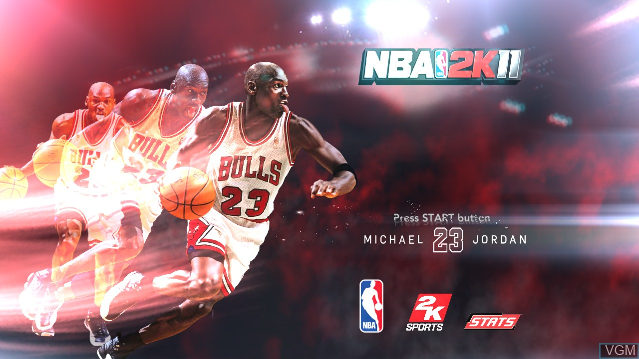 Title screen of the game NBA 2K11 on Sony Playstation 3