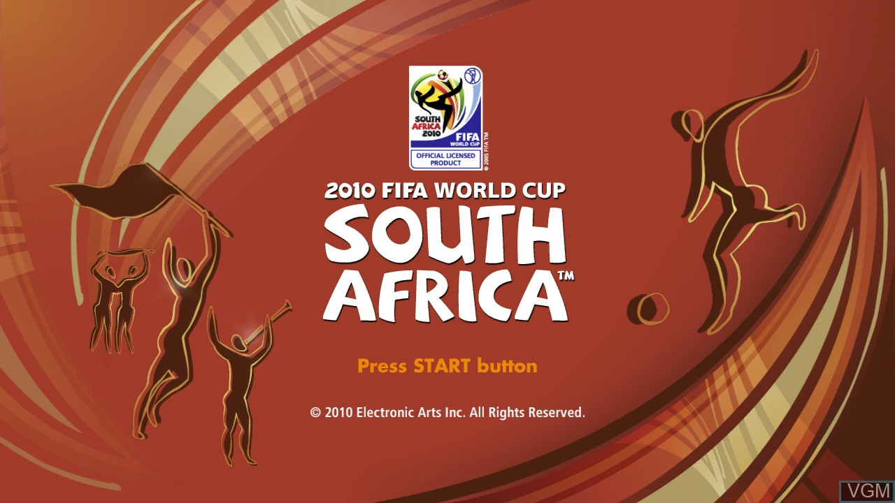 Title screen of the game 2010 FIFA World Cup South Africa on Sony Playstation 3