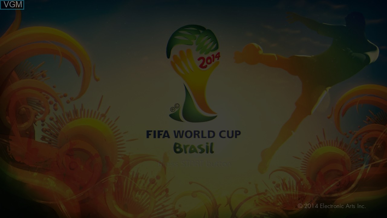 Title screen of the game 2014 FIFA World Cup Brazil on Sony Playstation 3