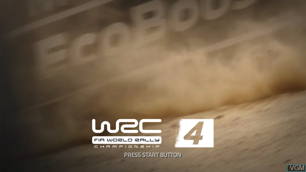 Title screen of the game WRC 4 - FIA World Rally Championship on Sony Playstation 3