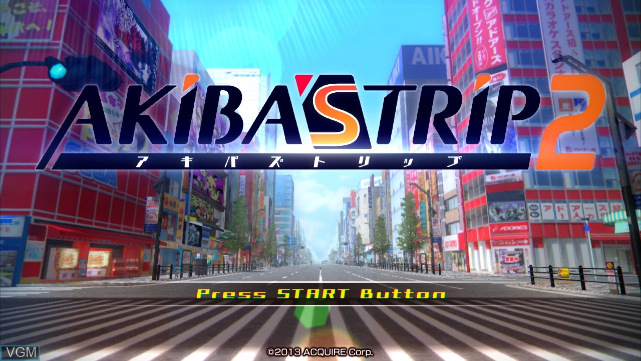 Title screen of the game Akiba's Trip 2 on Sony Playstation 3