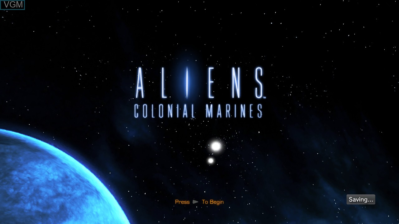 Title screen of the game Aliens - Colonial Marines on Sony Playstation 3
