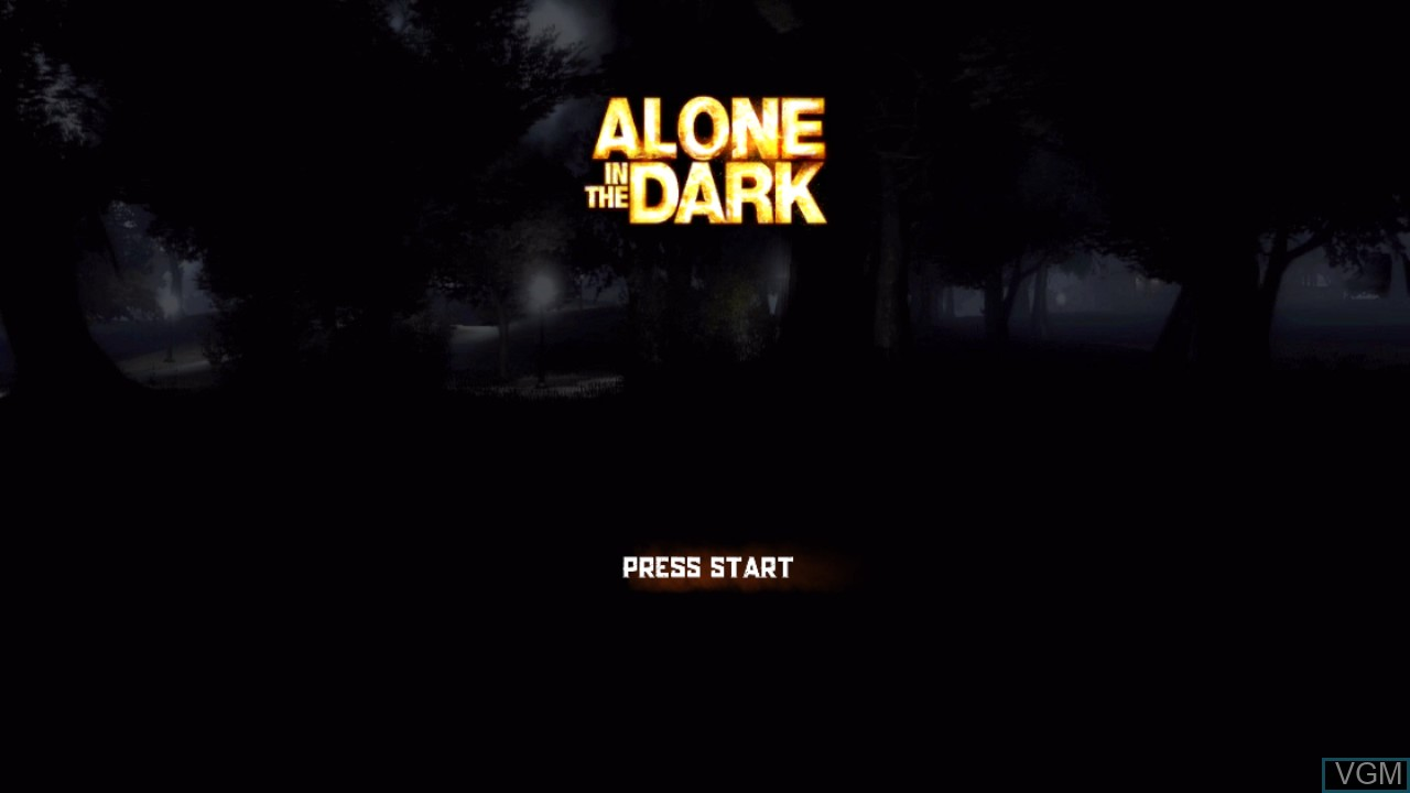 Title screen of the game Alone in the Dark on Sony Playstation 3