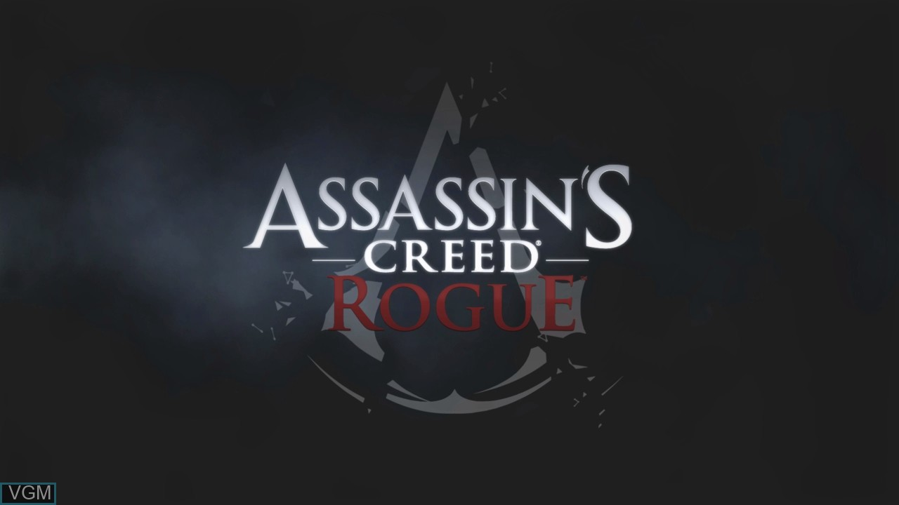 Title screen of the game Assassin's Creed Rogue on Sony Playstation 3
