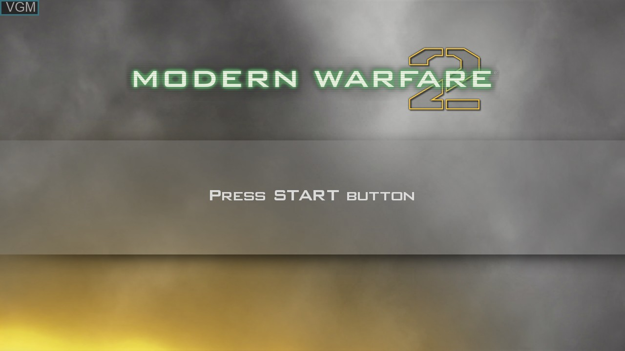 Title screen of the game Call of Duty - Modern Warfare 2 on Sony Playstation 3