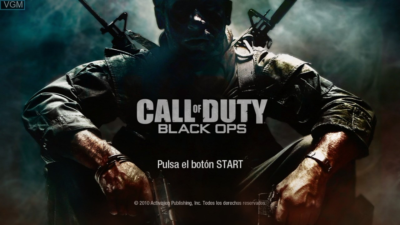 Title screen of the game Call of Duty - Black Ops on Sony Playstation 3