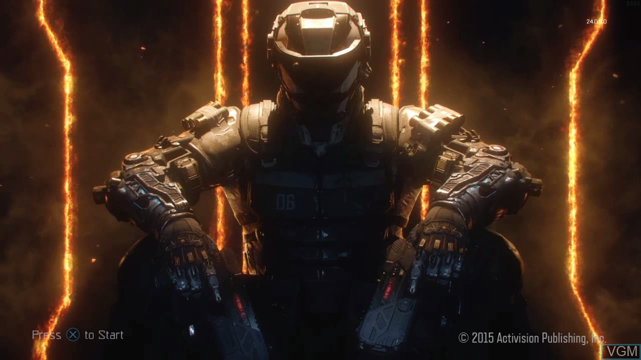 Title screen of the game Call of Duty - Black Ops III on Sony Playstation 3